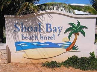 Shoal Bay Beach Hotel Sign