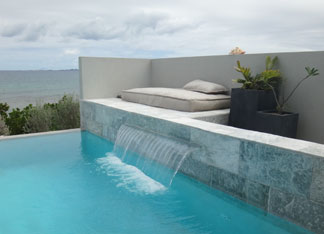 waterfall at solaire anguilla