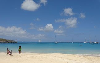 calm beach in anguilla