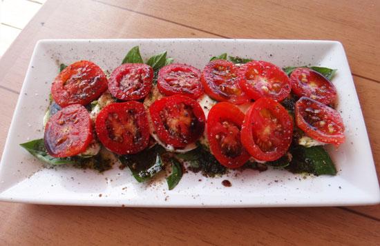 caprese salad at sandbar