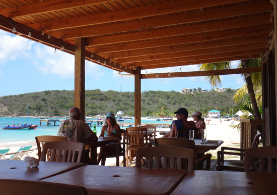 sandbar lunch time seating