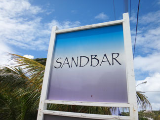 sandbar lunch sign