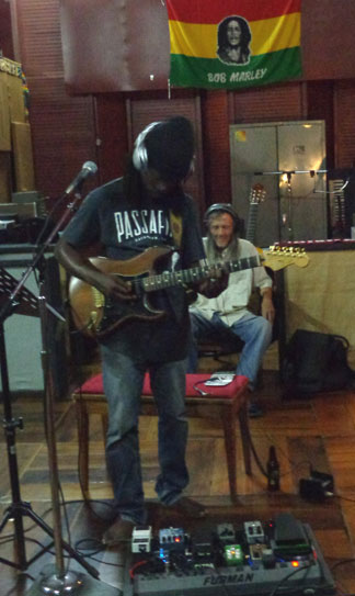 Anguilla music, British Dependency, Tuff Gong Studios, band, guitar,Ruel Richardson