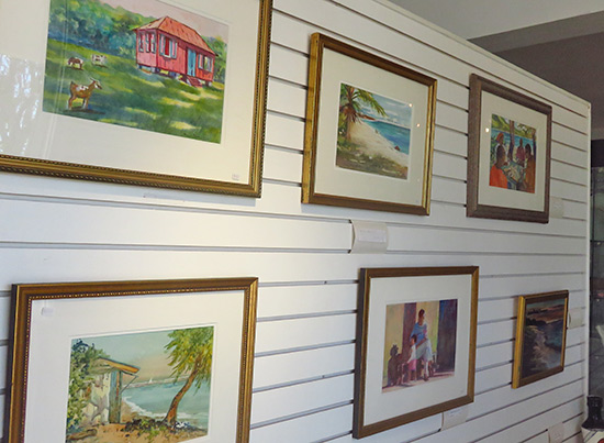 anguilla artwork on display at devonish art gallery