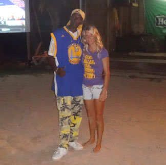 kristin bourne with elvis fleming in anguilla