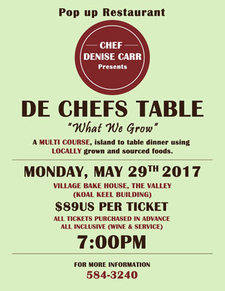 chef denise carr pop up restaurant ad