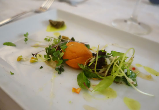 chef denise carr sweet pepper mousse with eggplant