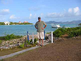 Little Harbour is lined with excellent caribbean real estate