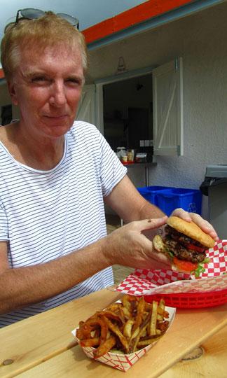 Anguilla restaurant, A Burger, Anguilla picnic
