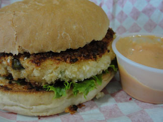 Anguilla restaurant, A Burger, fishburger, Lower South Hill