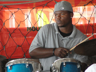 Anguilla restaurant, Johnno's, beach bar, live jazz, Jaiden Fleming, British Dependency, drummer