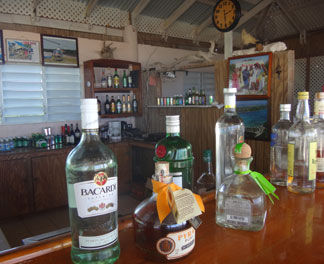 the bar at johnnos on prickly pear