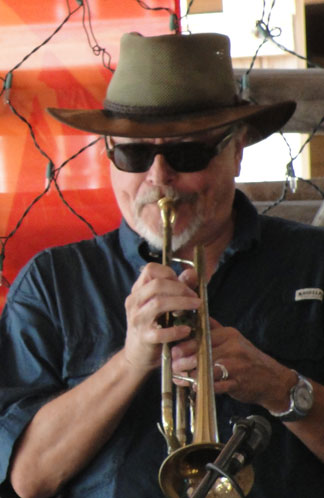 Anguilla restaurant, Johnno's, live jazz, beach bar, trumpet