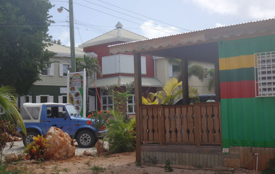 outside Natural Mystic in Anguilla