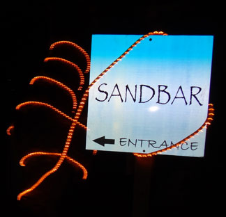 Anguilla restaurants, SandBar, entrance