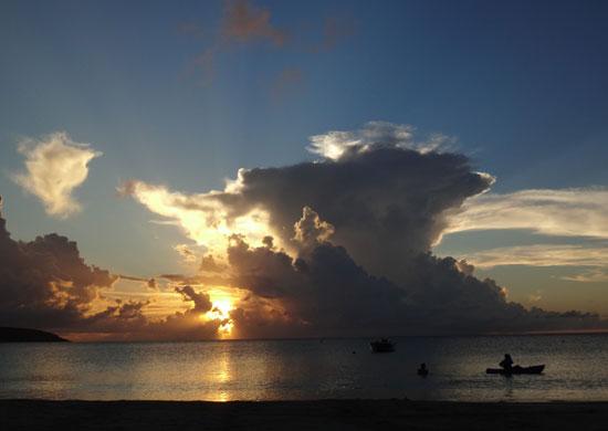 Anguilla restaurants, SandBar, sunset