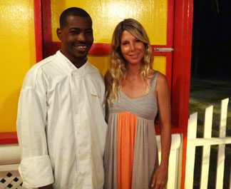 kristin with chef and owner darren connor at sarjais