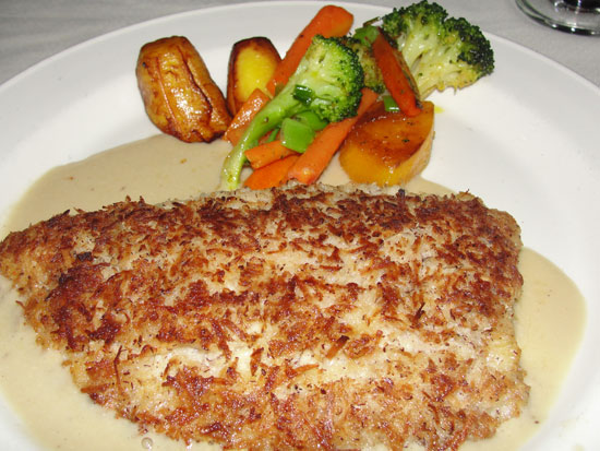 coconut crusted fish at dale's tastys restaurant