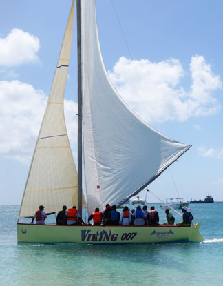 the team of viking 007 an anguilla sailing boat