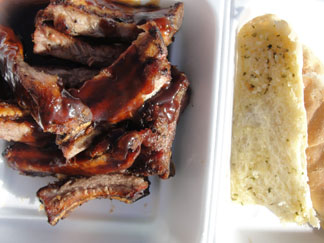 Anguilla diving, Sandy Ground, Sammy's BBQ, ribs, garlic bread