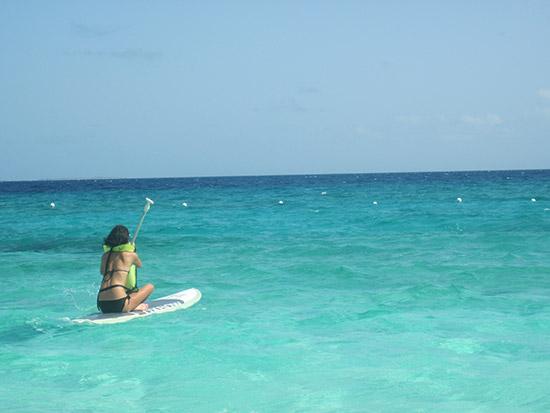 anguilla surfing sup board
