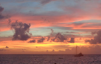 pink sunset in anguilla
