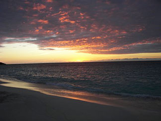 shoal bay east sunset