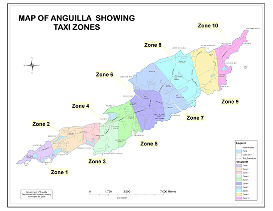 anguilla map taxi rates