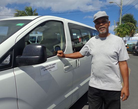 Anguilla taxis, Sam Rogers