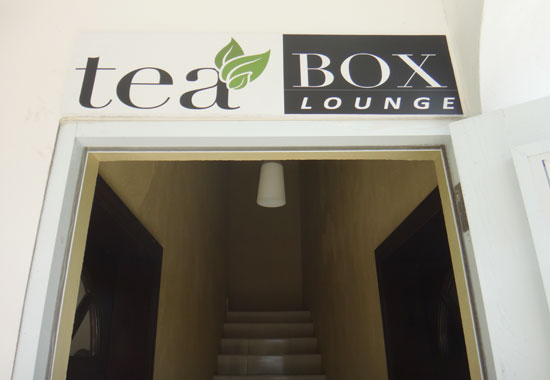 entrance to tea box lounge