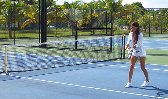 back hand at anguilla tennis academy