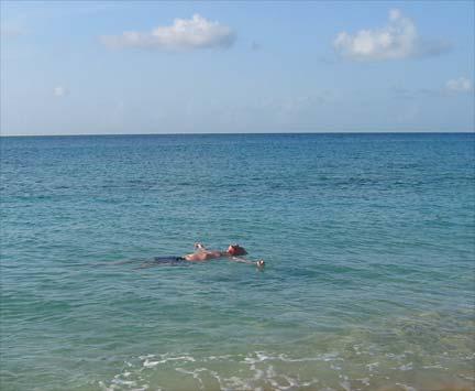 anguilla vacation photo dad