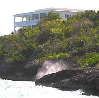 Anguilla Villa, taken from below