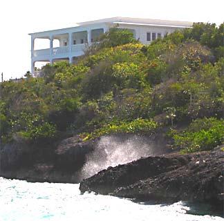Anguilla Villa, taken from below
