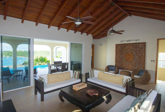 topaz villa pinnacle living room anguilla