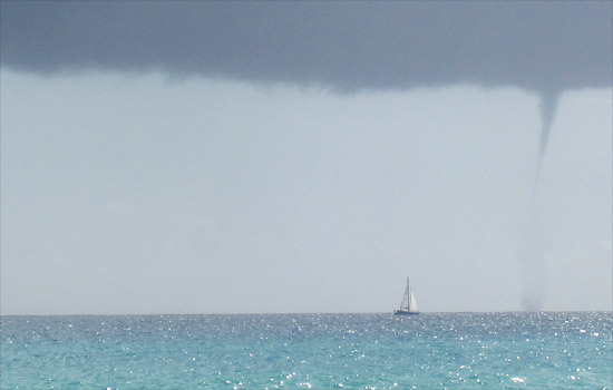 Anguilla waterspout
