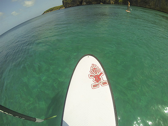 heading to little bay on stand up paddle boards