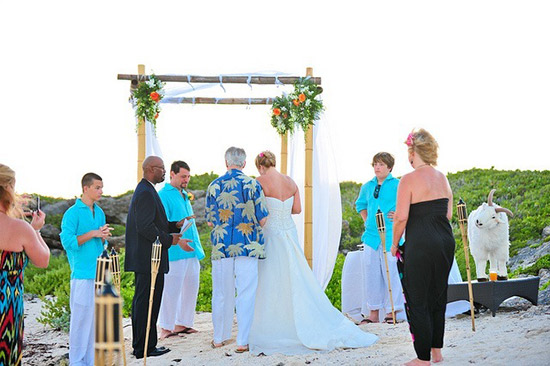 anguilla wedding at tequila sunrise villa