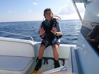 Anguilla diving, Anguillian divers, boat, Marjon
