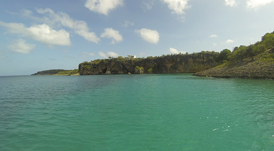 approaching little bay with anguilla watersports
