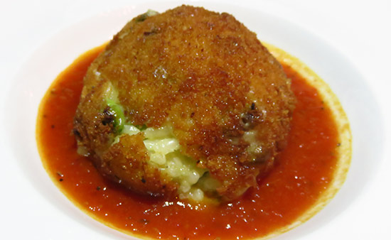 arancini appetizer at italia