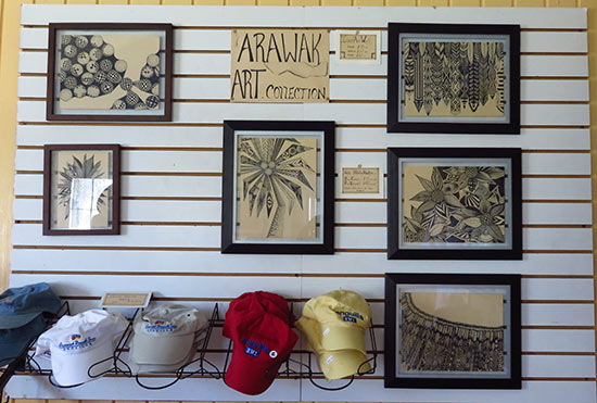 natalie artwork in arawak shop