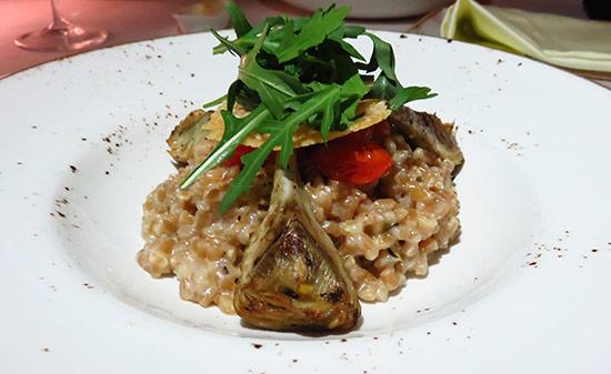 artichoke risotto at malliouhana