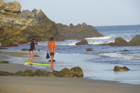 with celestino on the beach at la punta