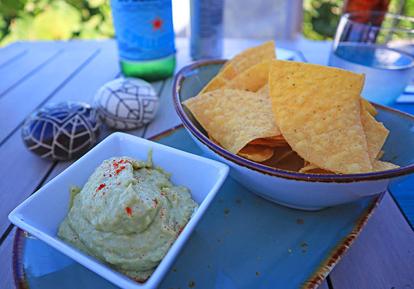 avocado hummus at four seasons bamboo bar and grill