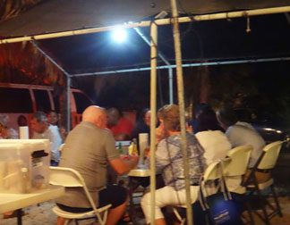 at b&d bbq in anguilla