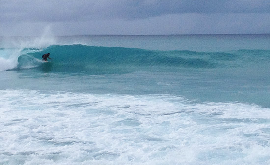 surfing barrels at meads bay anguilla