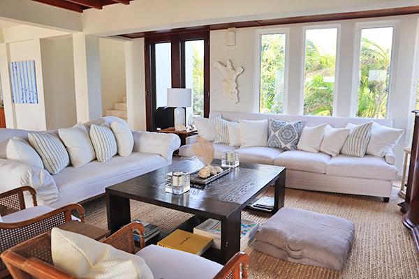 Beach Escape Villa Living Room