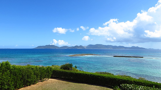 second floor view from beaches edge luxury villas