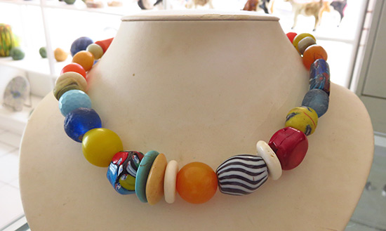 beautiful african bead necklace made by carrolle devonish